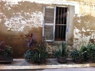 Französisches Fenster in Battambang